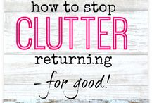 Decluttering Tips / Tips on organising, decluttering, storage, tidying, cleaning. putting away. It includes sorting, storage containers, boxes