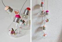RICICLANDO VECCHIE LAMPADINE / Idee per il recupero delle vecchie lampadine con il riciclo creativo