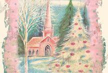 Pink vintage Christmas