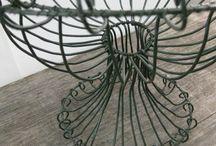 предметы интерьера из сетки и проволоки