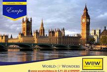 Europe 2016 / Europe Group Tour Packages from WOW Holidays