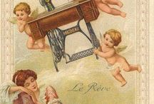 Vintage cards & advertisements / So nice & pretty images, for crafts or wallpapers