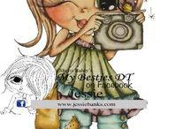 My Besties / Beautiful creations using Sherri Baldy's stamps