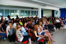 Vorträge an der Modeschule / Ehemalige Schüler zu Besuch an der Modefachschule Sigmaringen