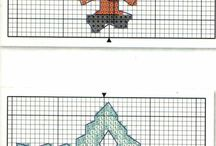 CROSS STITCHING / X-Stitching and some are with color charts / by Rosalie Belmares
