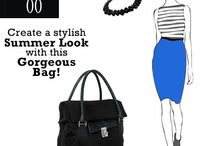 Create a stylish summer look with this gorgeous Bag! / Ladies, get the perfect summer look! Team this gorgeous black bag, made of luxurious cruelty-free synthetic leather & net fabric with a vibrant blue high-waist pencil skirt & a striped top, accessorize with black gold pumps, a black colored stone necklace & create a professional cum after-hours look beautifully. Ladies, also carry your daily essentials in style and stay fashionable always! Available in classic brown color as well.