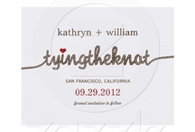~Typeface & Monograms Wedding Invitation~