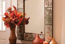 otoño decoracion mesas / Navidad