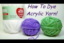 dye acrylic wool
