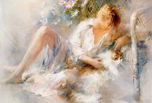 Воздушная живопись Willem Haenraets / Если ваша душа жаждет красоты, то работы художника-импрессиониста Willem Haenraets, несомненно, вам понравятся. Виллем Хенретс рисует потрясающие акварели, наполненные светом, теплом, мягкими, нежными красками, лёгкостью и невесомостью. Картины художника увлекут вас в особый волшебный, романтический мир, где царит безмятежность и любовь.