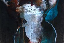 Artwork by Suzan / ink on canvas