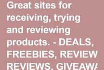 Places to receive products, review and share