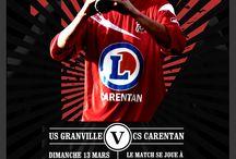 Affiches de matchs / Quelques affiches en rapport avec les matchs du CS CARENTAN football