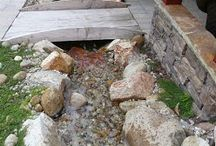 Water features for drainage