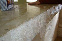 セニデコ・セニピエール施工 / フランス漆喰(壁)のレンガや石積等を表現する漆喰造形です