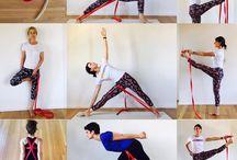 йога с ремешком