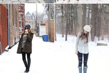 winter outfits - snow