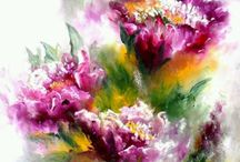 Watercolour subjects/stilllife/floral
