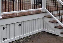 Decks & Skirting Back yard design