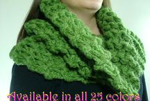 Handmade Accessories in knit and crochet with shawl pins