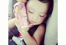 cute kid (my baby mia)(newest addition to my little family juliette) / by Mia Trejo