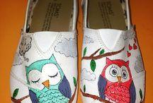 pantofiori pictati