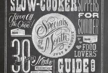 Chalk typography / Collections of fonts and creative works / by Carla Elizabeth Rose