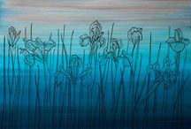 "Wall&Paper ""IRIS FIELD"" by Maria-Antonia Tsereteli / IRIS FIELD - SUNRISE / DAY / SENSET / NIGHT /"