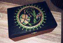 my creative / handmade, painting, woodbox, xmas, wedding