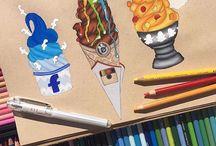 Social media drawings ✍️