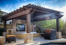 Jacuzzi and Pergola Backyard / Imagine Backyard Living brings together the top brands in spas and hot tubs, patio furniture, landscaping, accessories and maintenance under one roof to create unique and exceptional environments.