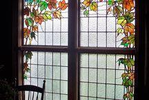 Vidrio de color escaleras