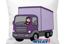Girls Can't WHAT? Truck Driver / The coolest place for Girl Truck Drivers and the famous Girls Can't WHAT? gifts that you can choose from to have and to give.