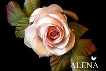 kwiaty z tkanin