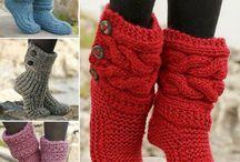 pletené papuče a goliere