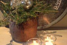 kerststuk in pot