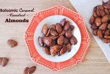 Balsamic Caramel Candied Almonds / For a sweet and healthy Easter, prepare these candied almonds with only 5 ingredients and 10 minutes of your time.