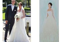 Schilderij van je trouwjurk. / Dress painting on canvas. Tineke de Raat schildert je bruidsjurk op doek. Zo heb je niet alleen een persoonlijk en uniek  kunstwerk aan de muur, maar kun je iedere dag genieten van de mooiste jurk van je mooiste dag!   Je jurk wordt aan de hand van een foto geschilderd op een 3D doek in de maat 40 x 100 cm. ( andere formaten in overleg) De prijs van een jurk op doek is € 250,- Meer info op: www.tinekederaat.blogspot.com of mail naar: tinekederaat@gmail.com