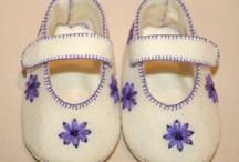 Handmade felt babyshoes by Jello'07