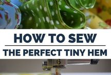 HOW TO DO ROLLED HEM