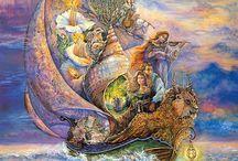 Josephine Wall Картины известной английской художницы Жозефины Уолл. / Картины известной английской художницы Жозефины Уолл (Josephine Wall)