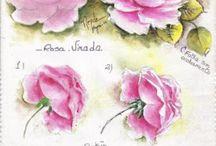 Как рисовать цветы и листья