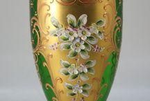 Green Venetian glass