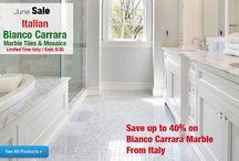 White Carrara Bianco Carrera Marble Tiles and Mosaics From italy / White Carrara Bianco Carrera Marble Tiles and Mosaics From italy | http://AllMarbleTiles.com