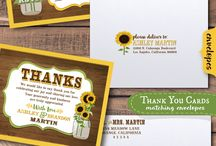 Vintage Rustic Woodgrain Sunflower Wedding Invitation Set! / Professional printed and artfully hand-mounted rustic sunflower mason jar theme wedding invitations on a woodgrain background with matching RSVP cards, save the date cards, thank you cards, favor tags, and name placards. A beautiful vintage sunflower mason jar design for your rustic inspired hipster wedding celebration!