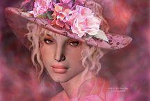 Ladies In Hats Art