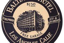 Vintage Luggage Labels / viajando hacia el pasado