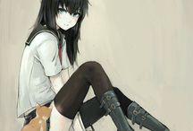 Black haired anime