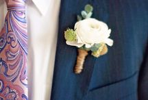 Grooms and Men / Sometimes its about the men and their boutonniere's.
