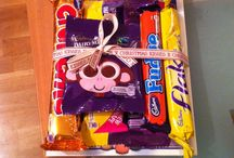 Stocking Filler / Selection box contents tied to festive movie - stocking filler ideas